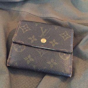 Authentic Louis Vuitton Double Elise Wallet